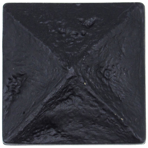 View a Larger Image of Rustic Pyramid Knob Matte Black