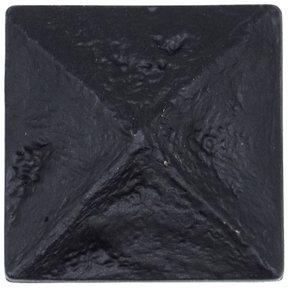 Rustic Pyramid Knob Matte Black