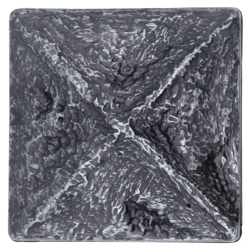 View a Larger Image of Rustic Pyramid Knob Pewter