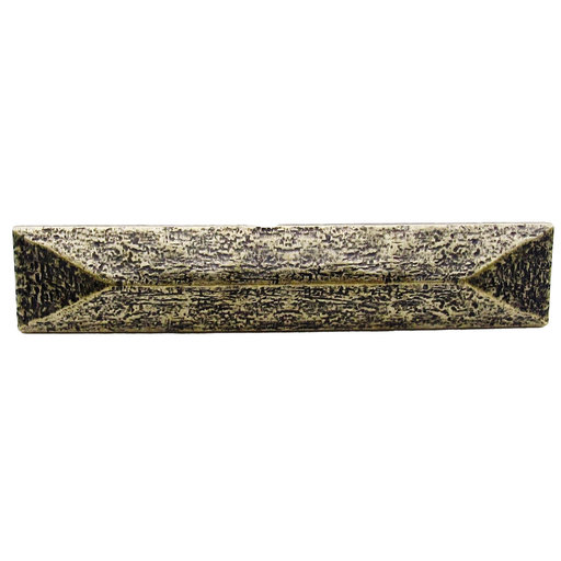 """View a Larger Image of Rustic Pyramid Pull 3-3/4"""" Center Brass Oxide"""