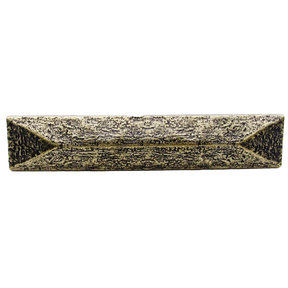 """Rustic Pyramid Pull 3-3/4"""" Center Brass Oxide"""