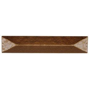 "Rustic Pyramid Pull 3-3/4"" Center Lux Bronze"