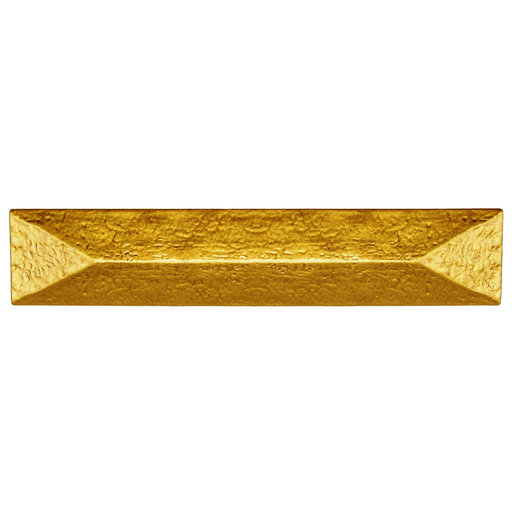 """View a Larger Image of Rustic Pyramid Pull 3-3/4"""" Center Lux Gold"""