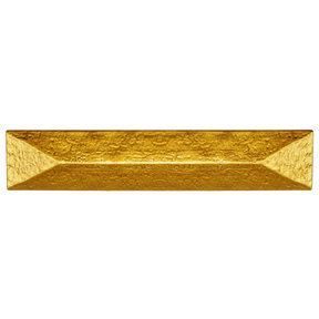 """Rustic Pyramid Pull 3-3/4"""" Center Lux Gold"""