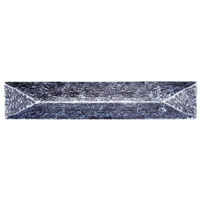 """Rustic Pyramid Pull 3-3/4"""" Center Pewter Oxide"""