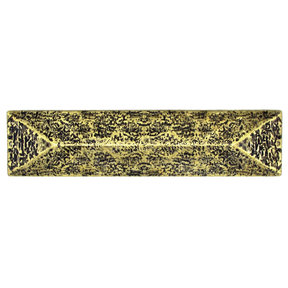 """Rustic Pyramid Pull 3"""" Center Brass Oxide"""