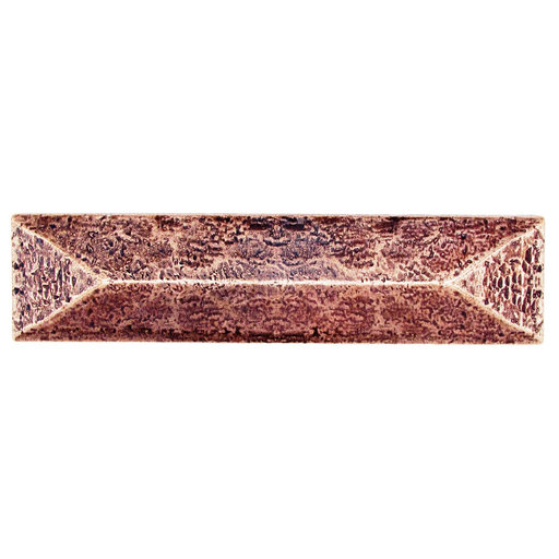 """View a Larger Image of Rustic Pyramid Pull 3"""" Center Copper Oxide"""