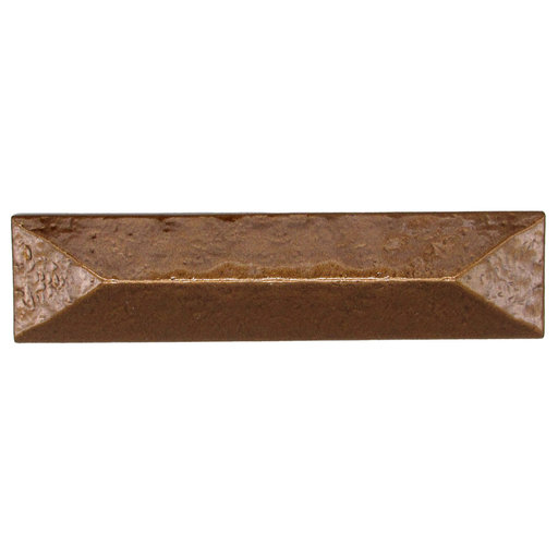 """View a Larger Image of Rustic Pyramid Pull 3"""" Center Lux Bronze"""