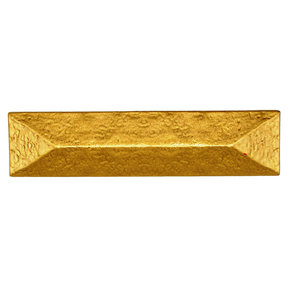"""Rustic Pyramid Pull 3"""" Center Lux Gold"""