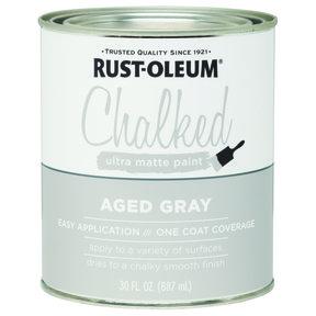 Rustoleum Chalked Paint Aged Gray