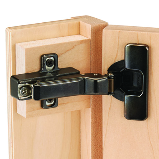 View a Larger Image of 110° Self Close Face Frame or Frameless Inset Hinge Titanium Finish Pair