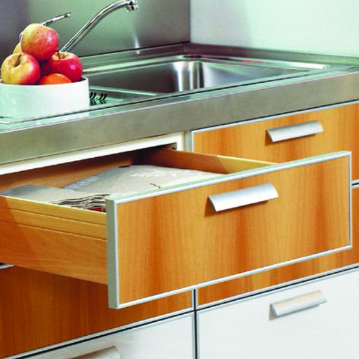 """View a Larger Image of 18"""" Soft-Close Futura Undermount Drawer Slide Model A7555 Pair"""