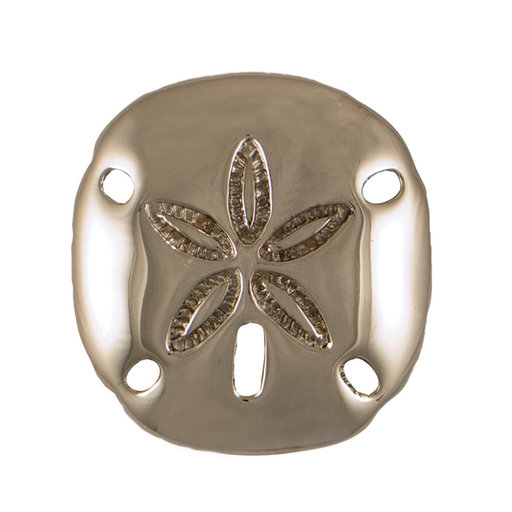 View a Larger Image of Sand Dollar Doorbell Ringer - Nickel Silver