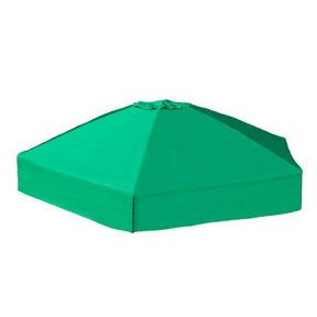 "84"" X 96"" X 37"" Telescoping Hexagon Sandbox Canopy & Cover"