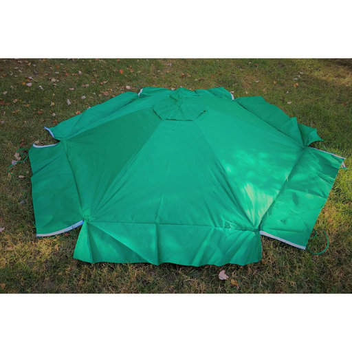 """View a Larger Image of 84"""" X 96"""" X 37"""" Telescoping Hexagon Sandbox Canopy & Cover"""
