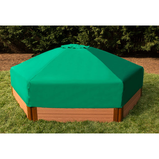 """View a Larger Image of 7' x 8' x 13.5"""" Hexagonal Collapsible Sandbox Cover"""