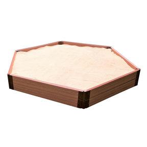 "Classic Sienna 7' x 8' x 11"" Composite Hexagon Sandbox Kit - 2"" profile"