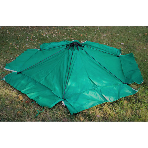"""View a Larger Image of Classic Sienna 7' x  8' x 11"""" Composite Hexagon Sandbox Kit with Telescoping Canopy/Cover - 2"""" profile"""