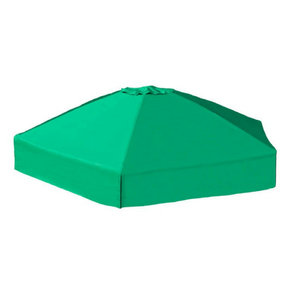 """Classic Sienna 7' x  8' x 5.5 """" Composite Hexagon Sandbox Kit with Telescoping Canopy/Cover - 2"""" profile"""