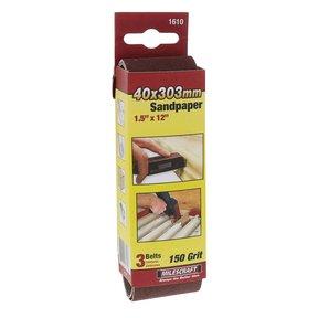 """1-1/2"""" x 12"""" SandDevil Sanding Belt - 150 grit - 3 Pack"""