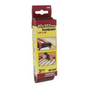 """1-1/2"""" x 12"""" SandDevil Sanding Belt - 80 grit - 3 Pack"""
