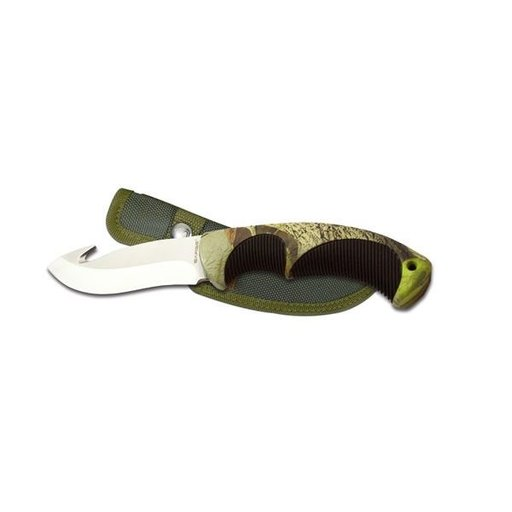View a Larger Image of Fixed Blade Gut Hook Camoflauge Knife, Model SK-913