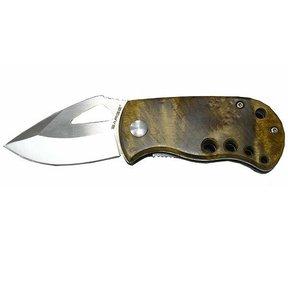 Single Blade Liner Lock Wood Folder Knife, Model SK-501MB