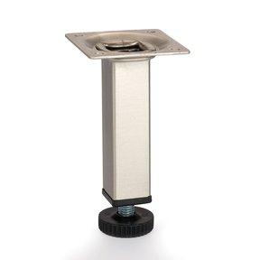 "Satin Chrome Steel Legs Square Tube 4-1/4"" Tall"
