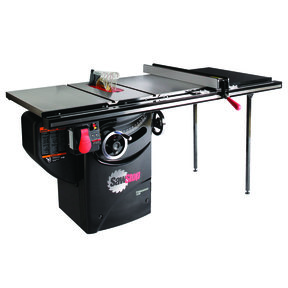 """1-3/4HP 1PH 110V Professional Cabinet Saw with 36"""" Professional T-Glide Fence System"""
