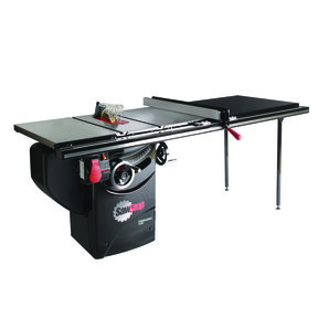 """1-3/4HP 1PH 110V Professional Cabinet Saw with 52"""" Professional T-Glide Fence System"""