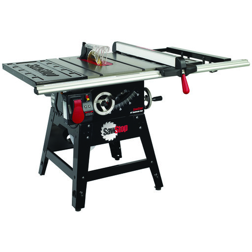 """View a Larger Image of 1-3/4HP 1PH 110-120V Contractor Saw with 30"""" Aluminum Extrusion Fence System"""
