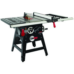 """1-3/4HP 1PH 110-120V Contractor Saw with 30"""" Aluminum Extrusion Fence System"""