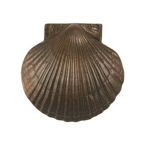 Scallop Door Knocker - Oiled Bronze