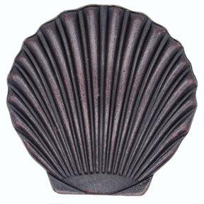 Scallop Seashell Knob, Oil Rubbed Bronze