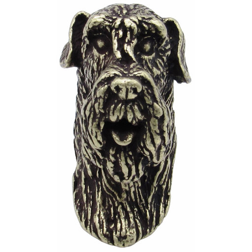 View a Larger Image of Schnauzer Knob Brass Oxide