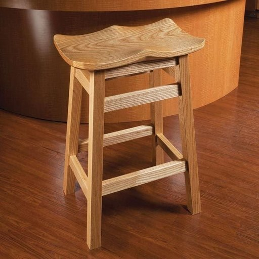 View a Larger Image of Scooped Seat Stool - Downloadable Plan