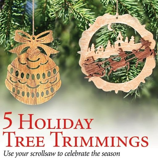 View a Larger Image of Scrollsaw Ornaments - Downloadable Plan