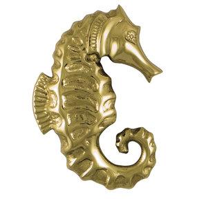 Seahorse Door Knocker - Brass