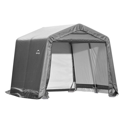 View a Larger Image of Shed-in-a-Box 10' x 10' x 8', Peak Style, Gray