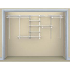 ShelfTrack 6-Shelf Adjustable Closet Organizer 7' - 10' W, White