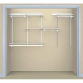 ShelfTrack Adjustable 4-Shelf Closet Organizer 5' - 8' W, White