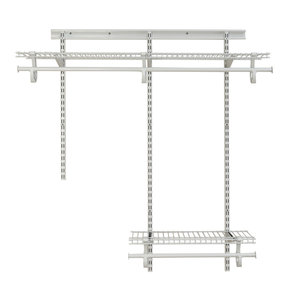 ShelfTrack Adjustable Closet Organizer 2' - 4' W, White