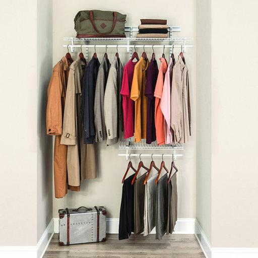 View a Larger Image of ShelfTrack Adjustable Closet Organizer 2' - 4' W, White