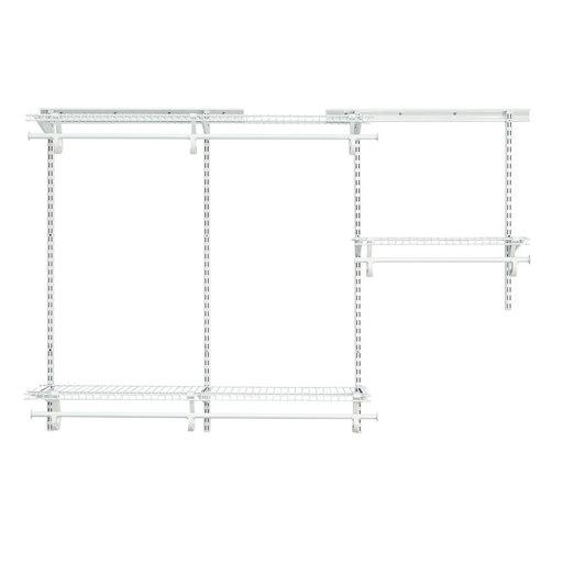 View a Larger Image of ShelfTrack Adjustable Closet Organizer 3' - 6' W,  White