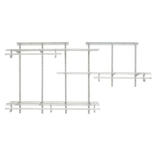 View a Larger Image of ShelfTrack Adjustable Closet Organizer 5' - 8' W, White
