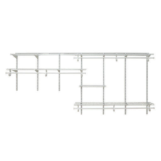 View a Larger Image of ShelfTrack Adjustable Closet Organizer 7' - 10' W, White