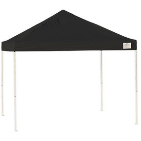 10 ft. x 10 ft. Pro Pop-up Canopy Straight Leg, Black Cover