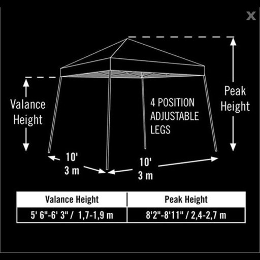 View a Larger Image of 10 ft. x 10 ft. Sport Pop-up Canopy Slant Leg, Blue Cover