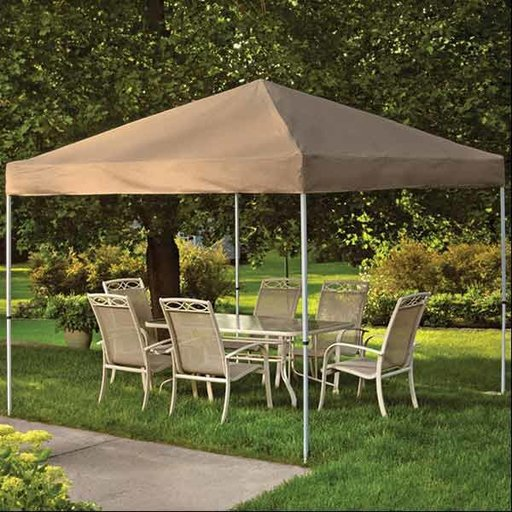 View a Larger Image of 10 ft. x 10ft. Pro Pop-up Canopy Straight Leg, Desert Bronze Cover