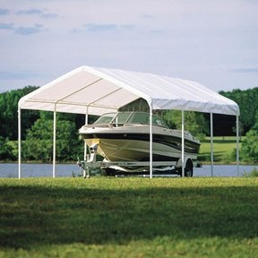 """12 x 20 ft. White Canopy Replacement Cover, Fits 2"""" Frame"""